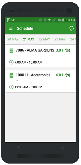 Smartphone scheduling