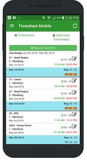 employee timesheet app approvals